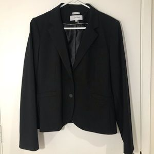Calvin Klein womens stretch black blazer